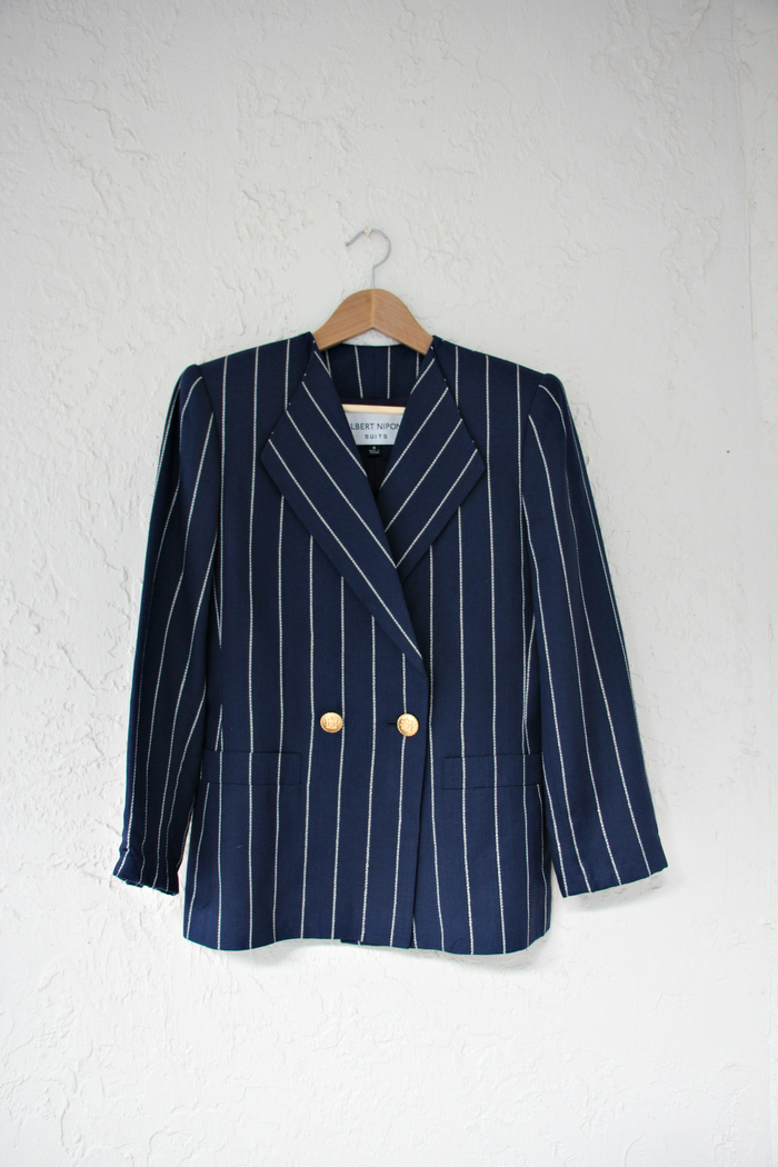 Albert Nipon Striped Jacket
