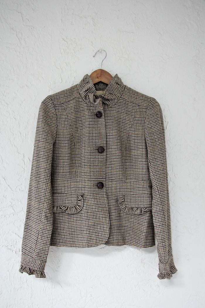 J. Crew Plaid Vintage Jacket