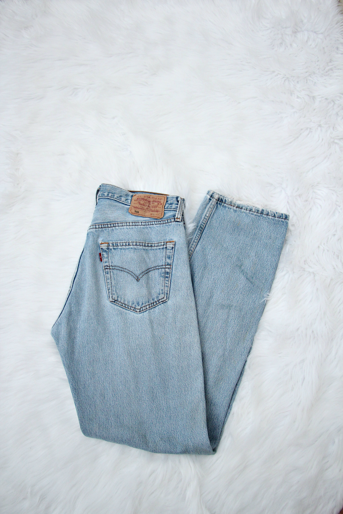 Vintage Light Wash 501's Levis Jeans