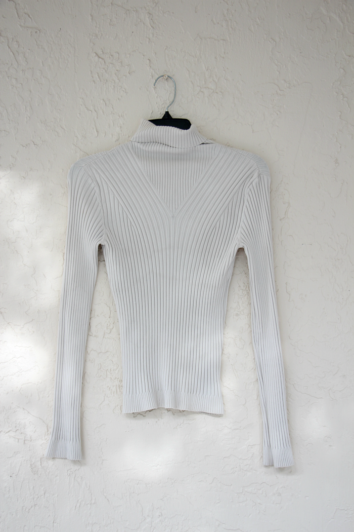 Vintage Cable Ribbed Sweater