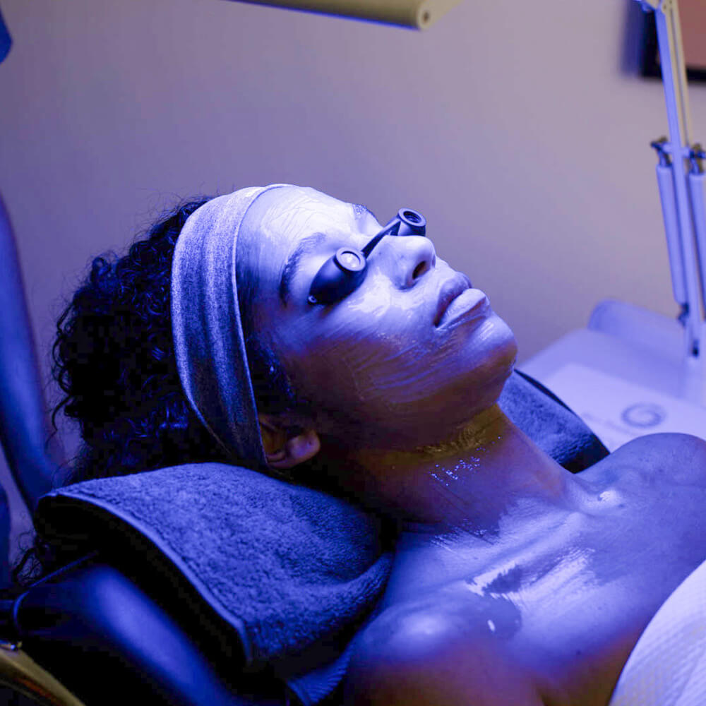 dermalogica customers experiencing a treatment