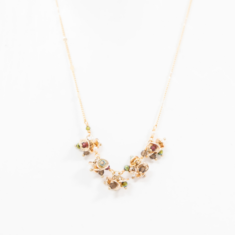 PETAL CLUSTER NECKLACE