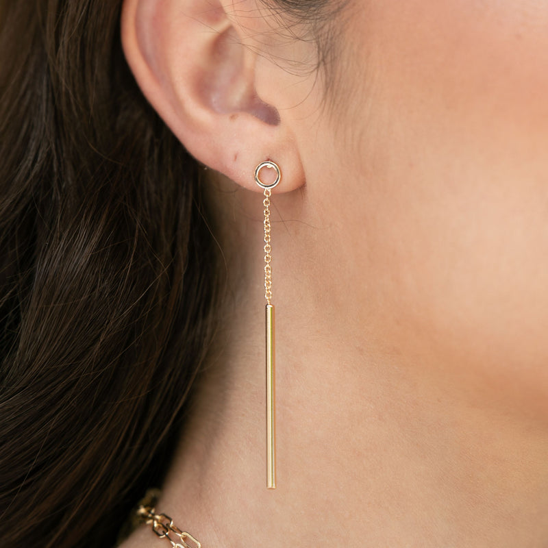 SKINNY DANGLE EARRING
