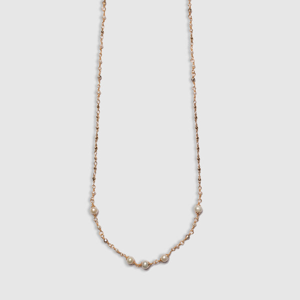 LONG WRAPPED PEARL NECKLACE