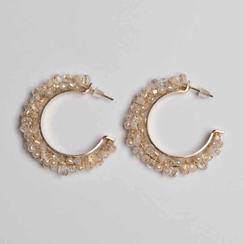 BOLD CLUSTER HOOPS IN PURE