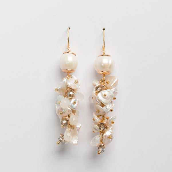 PEARL WATERFALL EARRING