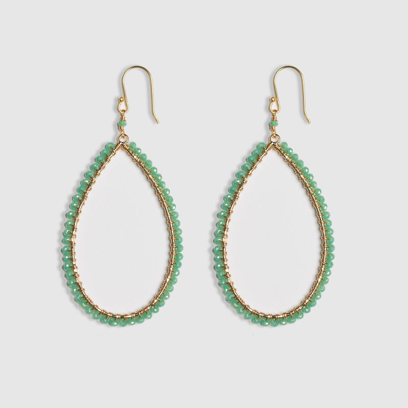 LARGE SEAFOAM WRAPPED EARRING