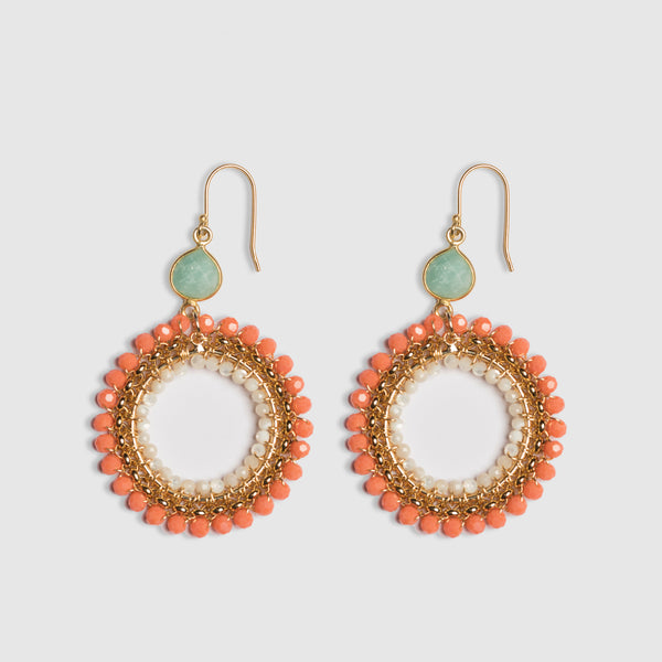 CORAL ROLO CHAIN WRAP EARRING