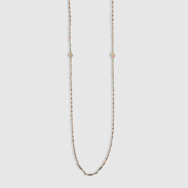 LONG WRAPPED SEAFOAM CHAIN NECKLACE