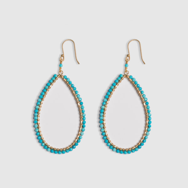 LARGE TURQUOISE DROP EARRINGS