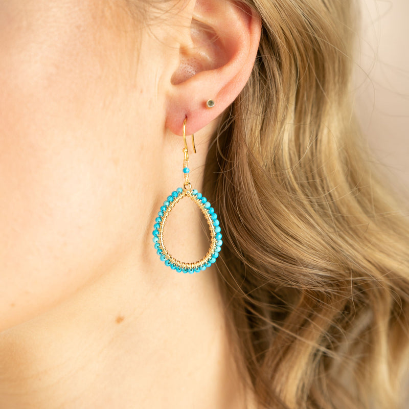 SMALL TURQUOISE WRAPPED DROP