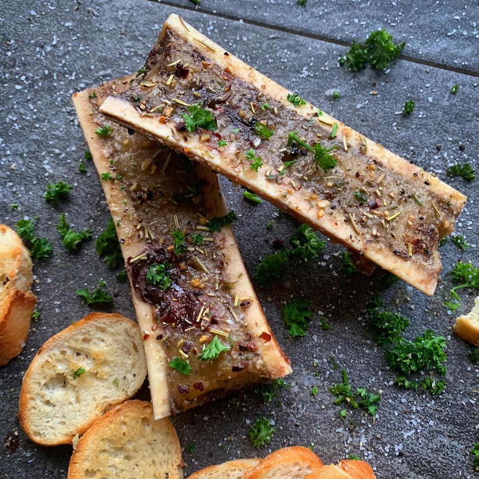 Roasted Bone Marrow Canoes