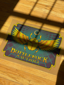 Bottlerock 2013 Concert Poster By Dave Hunter - Sparkle Gold Variant