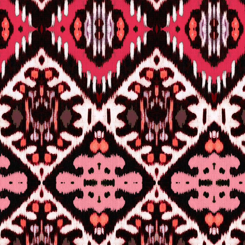 Indigenous Ikat Brilliant Pink