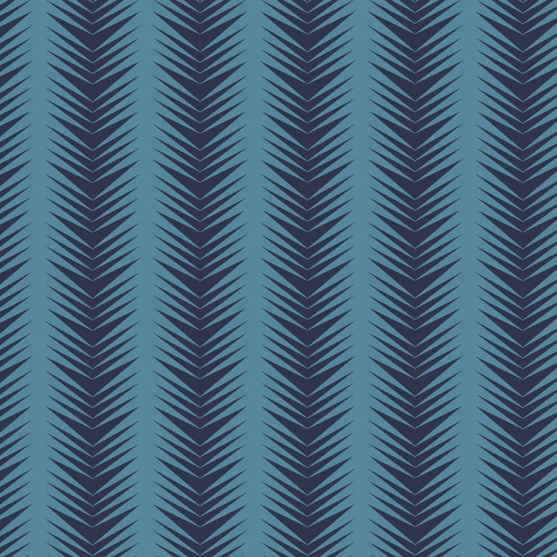 Ziggy Ice Navy Wallpaper