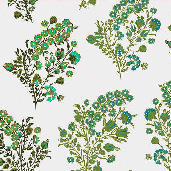 Baby Coromandel Flower Spring Green Wallpaper