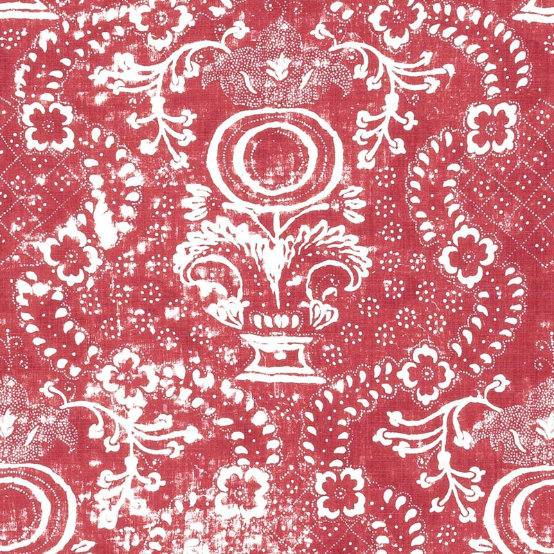 Penny-Morrison-Rama-Ethnic-Faded-Worn-Ornate-Vintage-Pink-Red-Bold-Bright