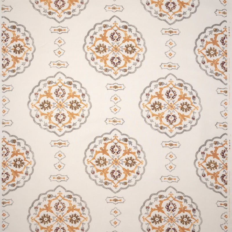 Penny-Morrison-Waverton-Medieval-Intricate-Round-Repeated-Orange-Yellow