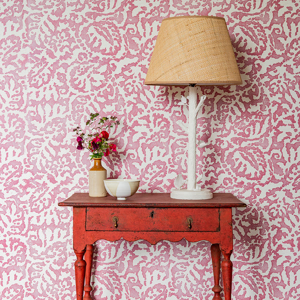 Majolica Dusky Rose Wallpaper