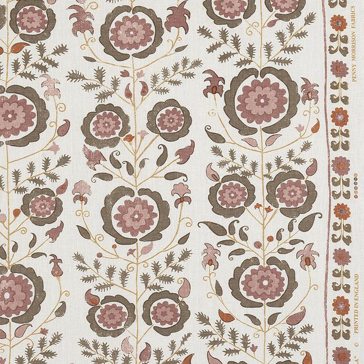 Penny-Morrison-Simla-Floral-Garden-Flowers-Pretty-Rose-Pink-Brown