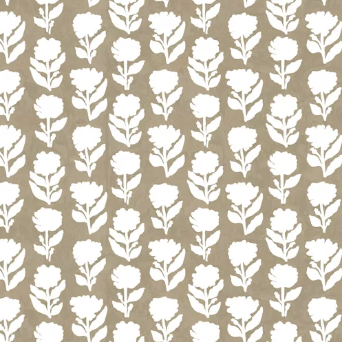 Marigold Taupe Wallpaper