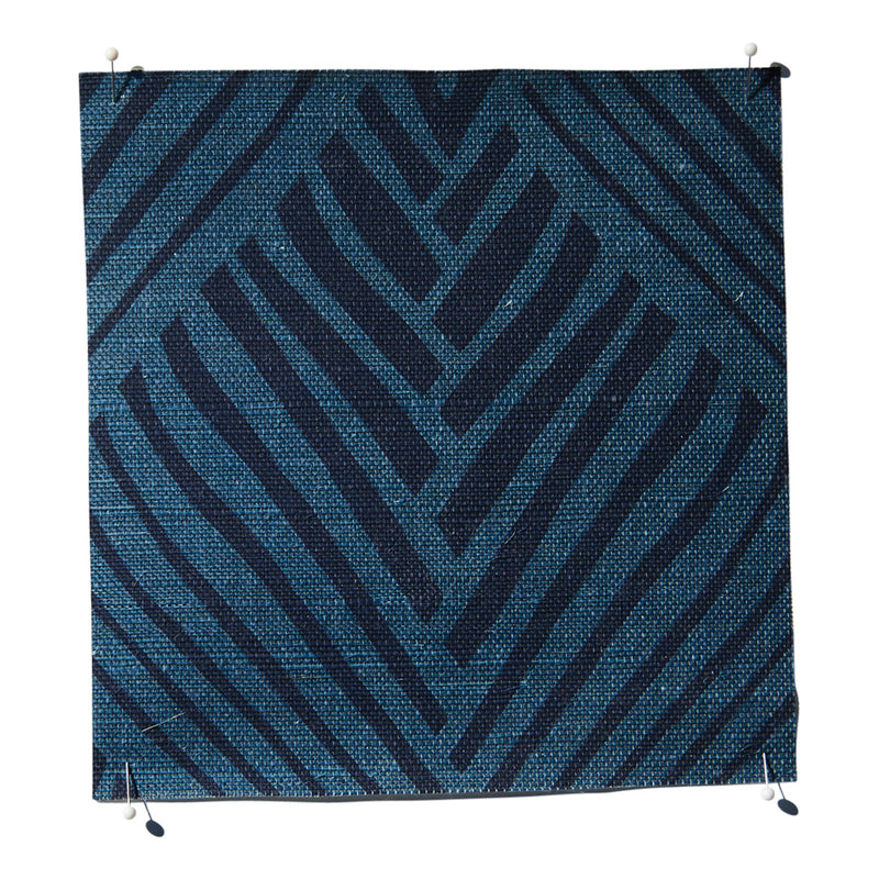 Bahia Grasscloth Midnight/Blue Wallpaper