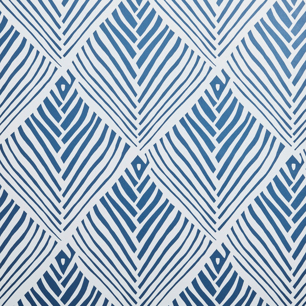 Bahia Grand Prussian Blue Wallpaper
