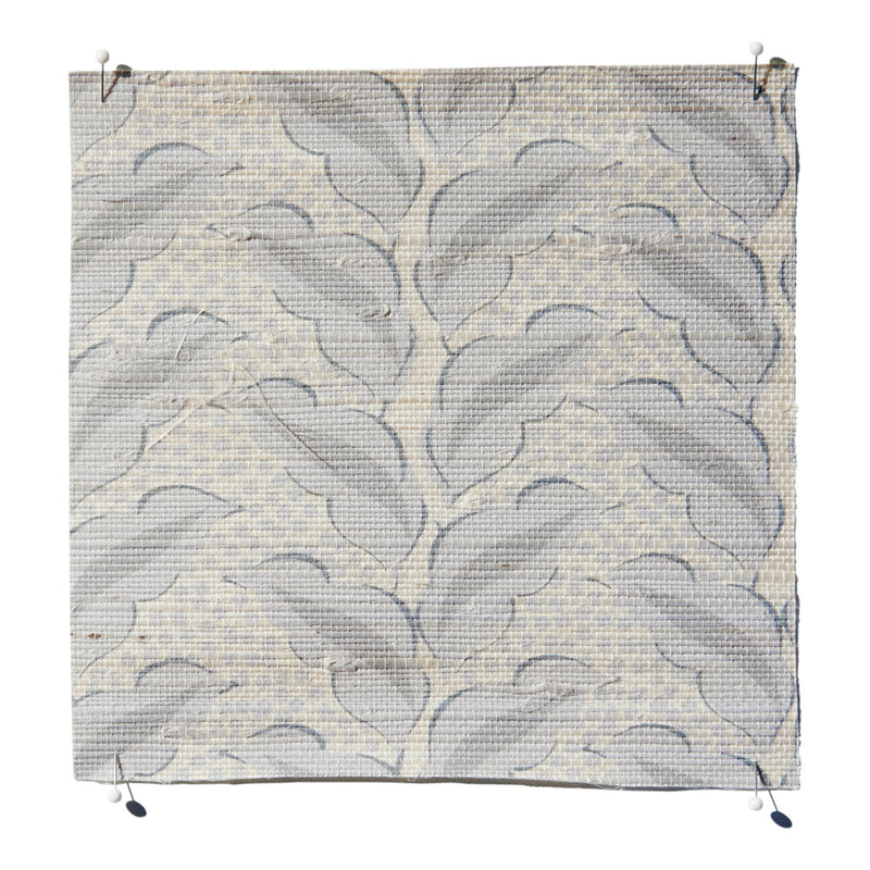 Cassis Grasscloth Dove/Natural Wallpaper