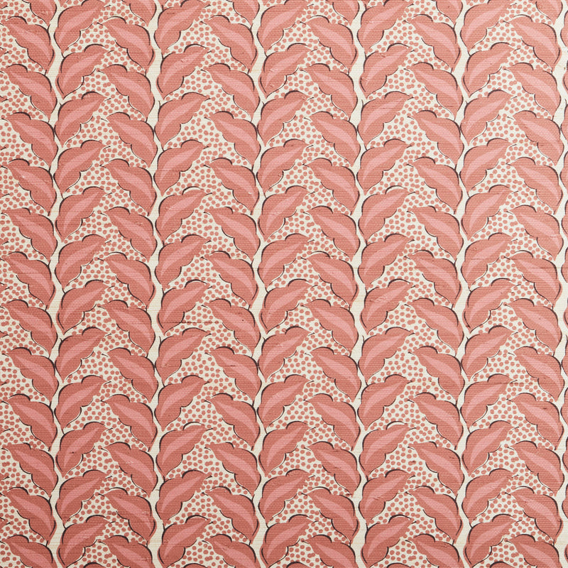 Cassis Grasscloth Sangria/Natural Wallpaper