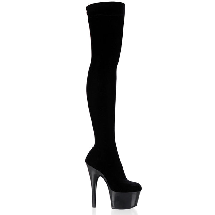 Pleaser ADO3002/B/VEL Drag Platform Shoes by Pleaser, available to buy at The Drag Room