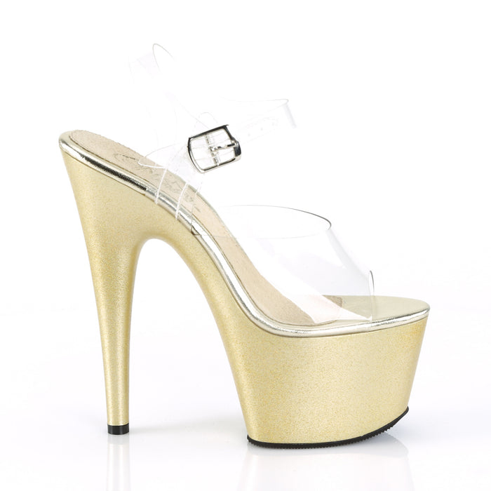 Pleaser ADO708HG/C/GLDHG Drag Platform Shoes by Pleaser, available to buy at The Drag Room