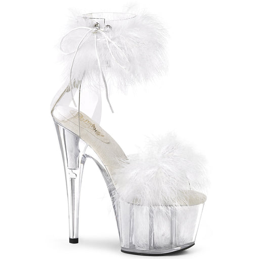 Pleaser ADO724F/C-W/WFUR Drag Platform Shoes by Pleaser, available to buy at The Drag Room