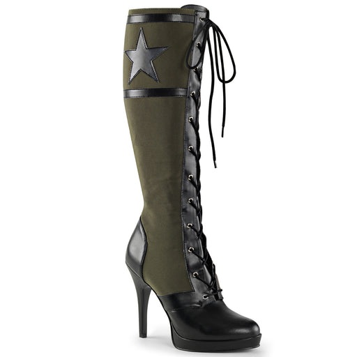 Funtasma ARENA2022/BPU-AYGNCA Drag Boots by Pleaser, available to buy at The Drag Room