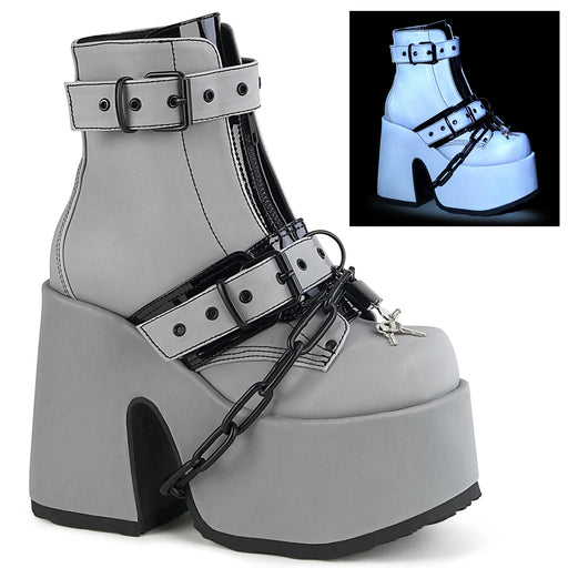 Demonia CAM205/GYREFL Drag Boots by Pleaser, available to buy at The Drag Room