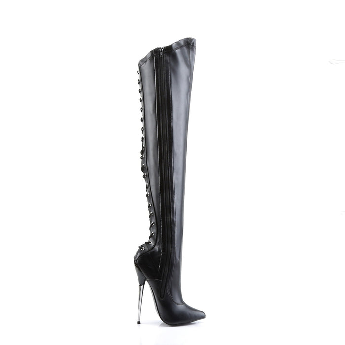 Devious DAG3060/B/PU Drag Footwear by Pleaser, available to buy at The Drag Room