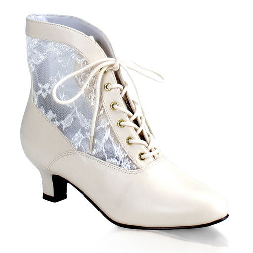 Funtasma DAME05/IV/PU Drag Boots by Pleaser, available to buy at The Drag Room