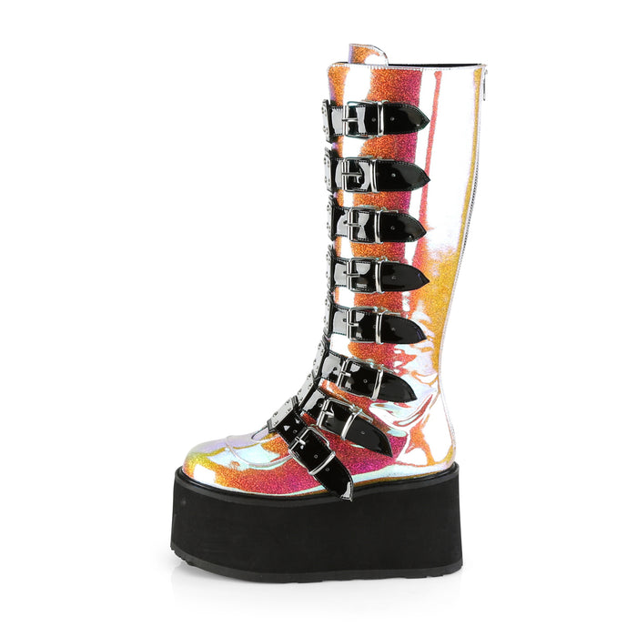 Demonia DAM318/PNGVL Drag Boots by Pleaser, available to buy at The Drag Room