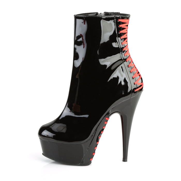 Pleaser DEL1010/B-R/B Drag Platform Shoes by Pleaser, available to buy at The Drag Room