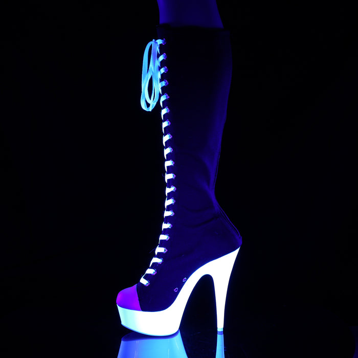 Pleaser DEL2000SK-02/BCA/NW Drag Platform Shoes by Pleaser, available to buy at The Drag Room