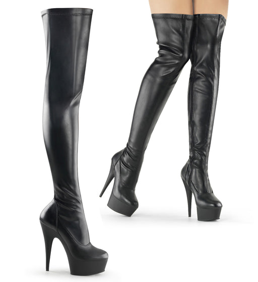 Pleaser DEL3000/B/PU Drag Platform Shoes by Pleaser, available to buy at The Drag Room