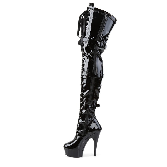 Pleaser DEL3028/B/M Drag Platform Shoes by Pleaser, available to buy at The Drag Room