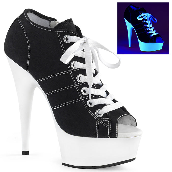 Pleaser DEL600SK-01/BCA/NW Drag Platform Shoes by Pleaser, available to buy at The Drag Room