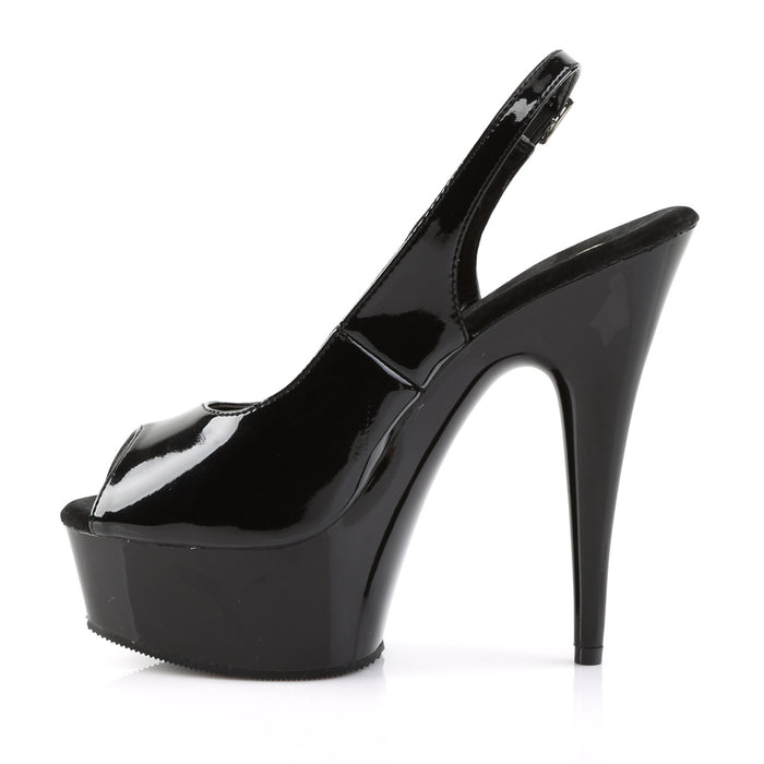 Pleaser DEL654/B/M Drag Platform Shoes by Pleaser, available to buy at The Drag Room
