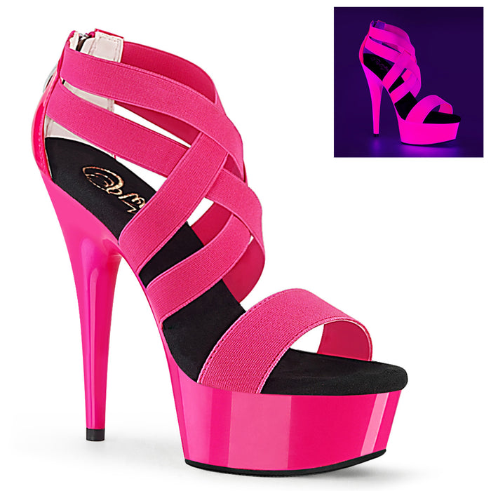 Pleaser DEL669UV/NHPELS-PT/M Drag Platform Shoes by Pleaser, available to buy at The Drag Room