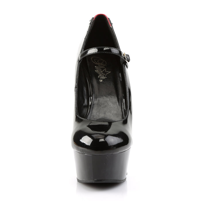 Pleaser DEL687FH/BR/B Drag Platform Shoes by Pleaser, available to buy at The Drag Room