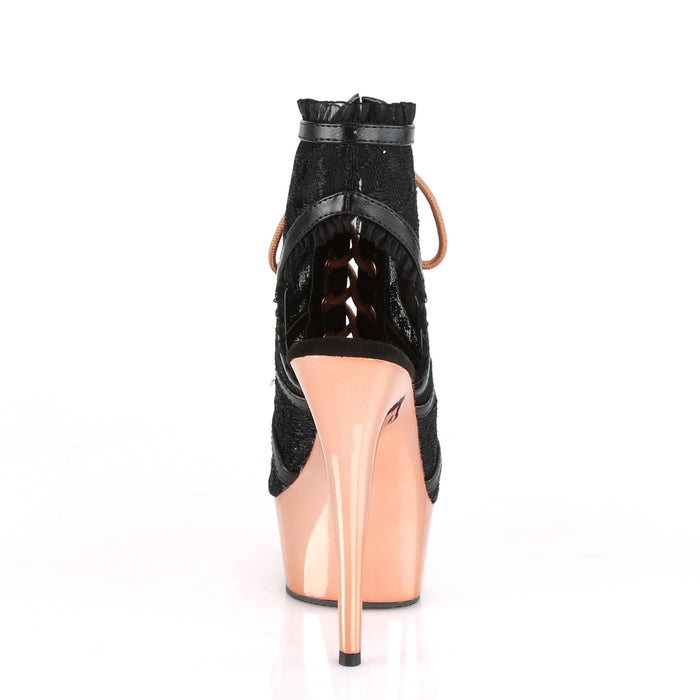 Pleaser DEL696LC/BPU/ROGLDCH Drag Platform Shoes by Pleaser, available to buy at The Drag Room