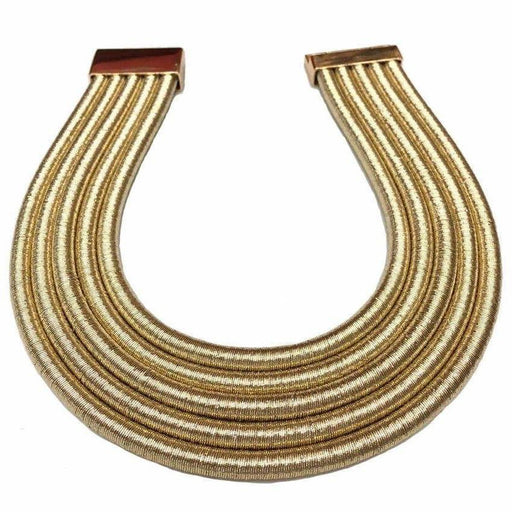 Drag-Choker Necklace - Vesta-Gold-