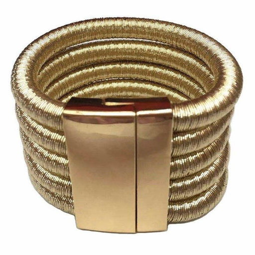 Drag-Clip Cuff Bracelet - Vesta-Gold-Single-