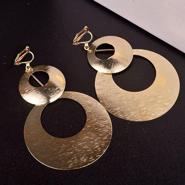 Drag-Clip-on Earrings - Holly-Gold-