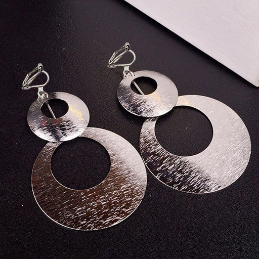 Drag-Clip-on Earrings - Holly-Silver-